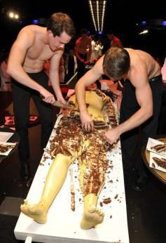 Marina Abramovic cake partially eaten